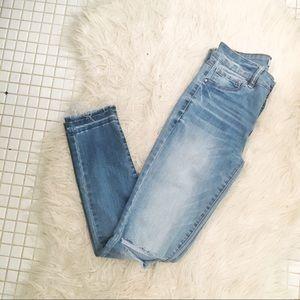 Refuge High Rise Distressed Skinny Jeans